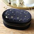 Lisa Angel Ladies' Starry Night Velvet Oval Jewellery Case in Black