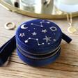Lisa Angel Ladies' Starry Night Velvet Mini Round Jewellery Case in Navy