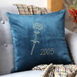 Lisa Angel Personalised Birth Flower Square Velvet Cushion