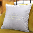 Lisa Angel Special Personalised Embroidered Meaningful Words Square Velvet Cushion