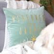 Lisa Angel Personalised 'Reserved For' Square Velvet Cushion