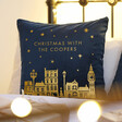 Lisa Angel Ladies' Personalised Square Velvet Christmas Cushion