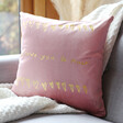 Lisa Angel Personalised 'Your Drawing' Square Velvet Cushion