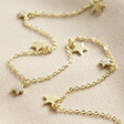 Ladies' Multi-Star Charm Necklace in Gold