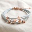 Lisa Angel Ladies' Multi-Strand Star Bracelet in Dark Grey and Silver