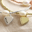 Lisa Angel Hand-Stamped Personalised Dainty Seed Bead & Pearl Bracelet
