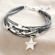 Lisa Angel Silver Personalised Multi-Strand Star Bracelet