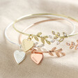 Lisa Angel Ladies' Personalised Crystal Leaves Bangle