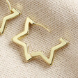 Teen's Gold Star Hoop Earrings