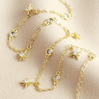 Lisa Angel Delicate Crystal Star Charm Choker Necklace in Gold