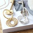 Lisa Angel Unisex Personalised Interlocking Russian Ring Keyring