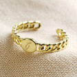 Lisa Angel Gold Personalised Initial Chain Ring
