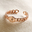 Lisa Angel Rose Gold Personalisation Chain Ring