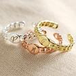 Lisa Angel Ladies' Personalised Initial Chain Ring