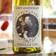 Lisa Angel Personalised Anniversary 'Your Photo' Bottle of Wine