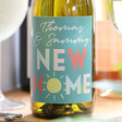 Lisa Angel Personalised Colourful 'New Home' Bottle of Wine