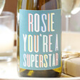 Lisa Angel Colourful Personalised Colourful 'Superstar' Bottle of Wine