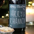 Personalised Festive 'Merry Christmas' Bottle of Wine