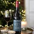 Lisa Angel Printed Personalised Festive 'Merry Christmas' Bottle of Wine