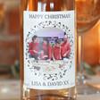 Personalised Photo 'Happy Christmas' Bottle of Wine