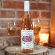 Lisa Angel Printed Personalised Photo 'Happy Christmas' Bottle of Wine