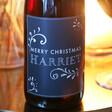 Lisa Angel Personalised Vintage Style 'Merry Christmas' Bottle of Wine