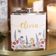 Lisa Angel Ladies' Personalised Wildflower Hip Flask