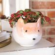 Lisa Angel Ceramic Fox Planter