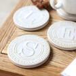 Lisa Angel Unisex Ceramic Initial Coaster