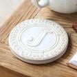 Ceramic Initial 'J' Coaster