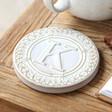 Men's Ceramic Initial 'K' Coaster