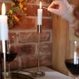 Women's Set of 2 Gold Metal Candlestick Holders