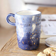 Lisa Angel Navy and Gold Fleck Mug