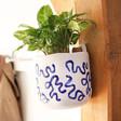 Lisa Angel White and Blue Hangable Ceramic Planter