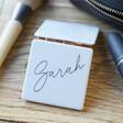 Lisa Angel Ladies' Personalised Name Grey Square Compact Mirror