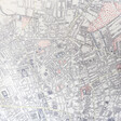 Close up of Vintage London Map Scarf Print