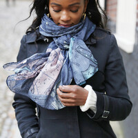 Two/'s Company Map Scarf London