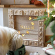 Lisa Angel Personalised Fill Your Own Wooden Pet Advent Calendar Light Box
