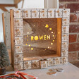 Lisa Angel Personalised Fill Your Own Wooden Stars Advent Calendar Light Box