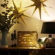 Festive Personalised Wooden Light Box Frame
