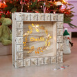 Lisa Angel Personalised Wooden Wreath Advent Calendar Light Box