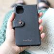 Lisa Angel Black Vegan Leather iPhone 11 Wallet Case