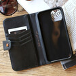 Lisa Angel Card Holder and Black Vegan Leather iPhone 12 Pro Max Wallet Case