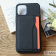 Black Vegan Leather iPhone 12 MiniCase and Cardholder