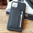 Black Vegan Leather iPhone 11 Pro Max Case and Cardholder