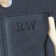 Lisa Angel Personalised Initials Black Vegan Leather iPhone Case