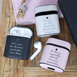 Lisa Angel Personalised Wording Vegan Leather AirPods Case