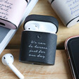 Lisa Angel Personalised Wording Vegan Leather AirPods Cases