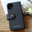 Lisa Angel Black Vegan Leather iPhone 12 Mini Wallet Case