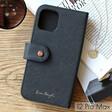 Lisa Angel Black Vegan Leather iPhone 12 Pro Max Wallet Case
